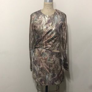 H&M Conscious metallic renaissance dress cut out